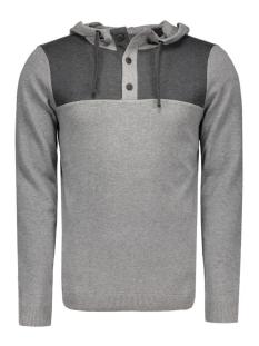 Jack & Jones Sweater JCOTRAVIS KNIT HOOD 12113029 Grey Melange/ KNIT FIT