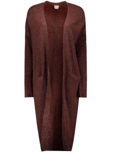 Vero Moda Vest VMGINGER LS EXTRA LONG CARDIGAN REP 10159153 Decadent Chocolate