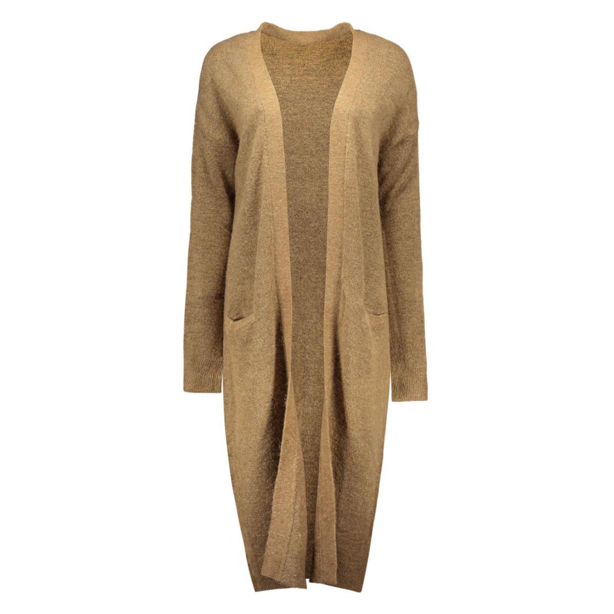 vmginger ls extra long cardigan rep 10159153 vero moda vest tigers eye