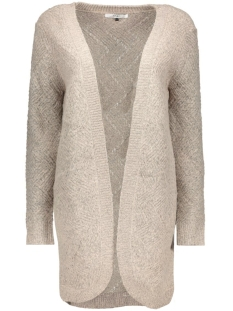 Only Vest onlBRETAGNE L/S OPEN CARDIGAN KNT NOOS 15120119 Pumice Stone/W Melange