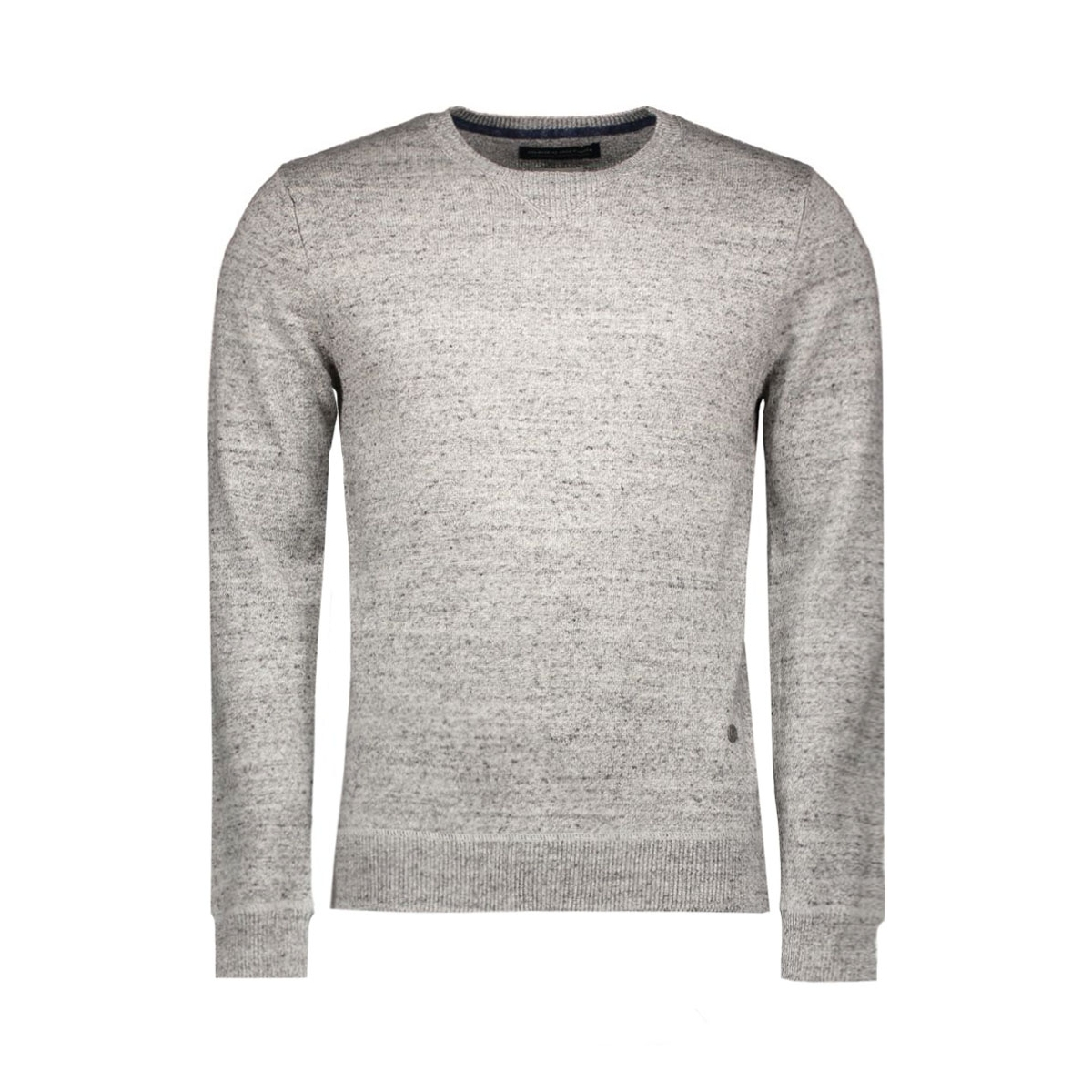 jprkylan knit crew neck 12110272 jack & jones trui grey melange