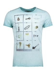 Garcia T-shirt C71007_men`s T-shirt ss 2312 Sea Green