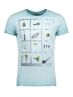 Garcia T-shirt C71007_men`s T-shirt ss 2312 Sea Green