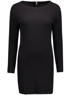 onlnew tessa straight zip l/s dress 15125907 only jurk black