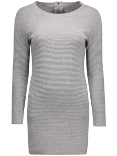 onlnew tessa straight zip l/s dress 15125907 only jurk light grey melange