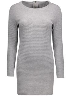 Only Jurk onlNEW TESSA STRAIGHT ZIP L/S DRESS 15125907 Light Grey Melange