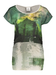 mlutto s/s jersey mix 20006718 mama-licious positie shirt light grey melange