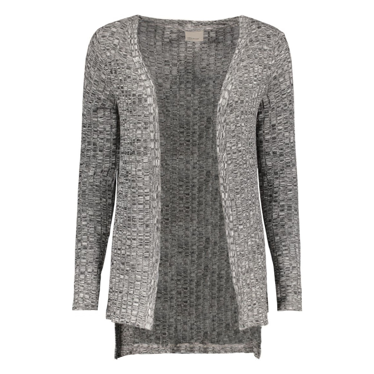 vmnille ls high low cardigan 10162506 vero moda vest black/melange w