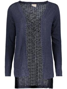 vmnille ls high low cardigan 10162506 vero moda vest navy blazer/melange w.