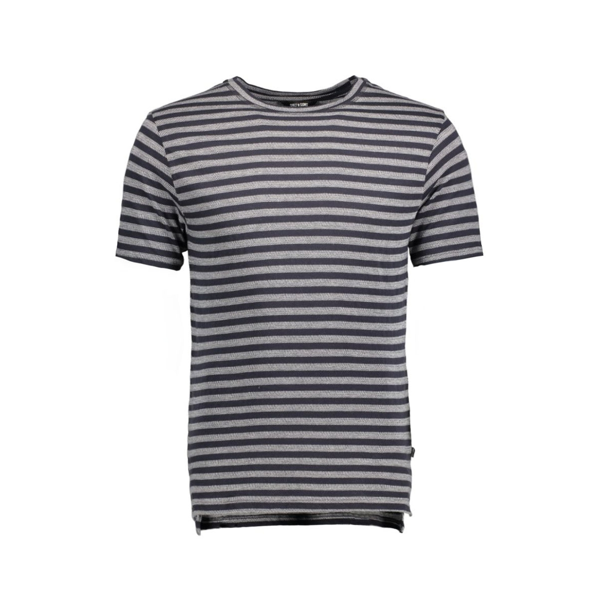 onsallan fitted tee 22004649 only & sons t-shirt dark navy