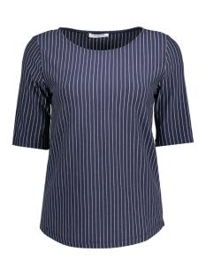 Pieces T-shirt PCDAMARA 2/4 TEE BOX 17079802 Navy Blazer/Pinstripe