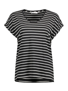 Pieces T-shirt PCDITTE T-SHIRT FF 17074669 Black/ Cloud dancer