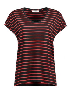 pcditte t-shirt ff 17074669 pieces t-shirt high risk red/black