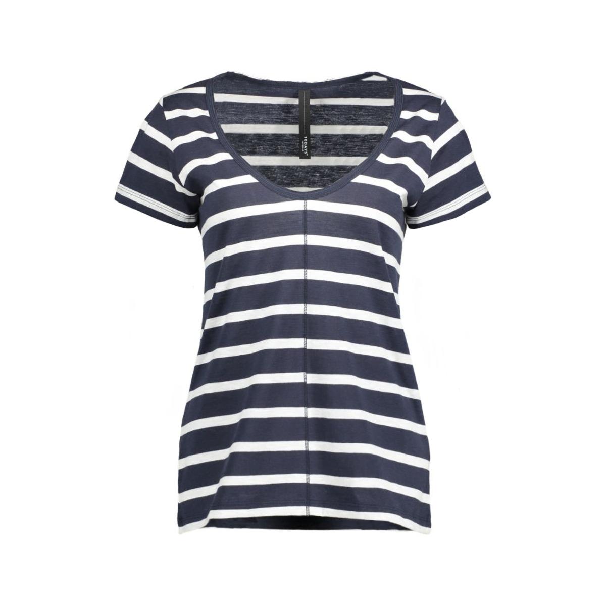 16wi743s 10 days t-shirt black blue/ ecru