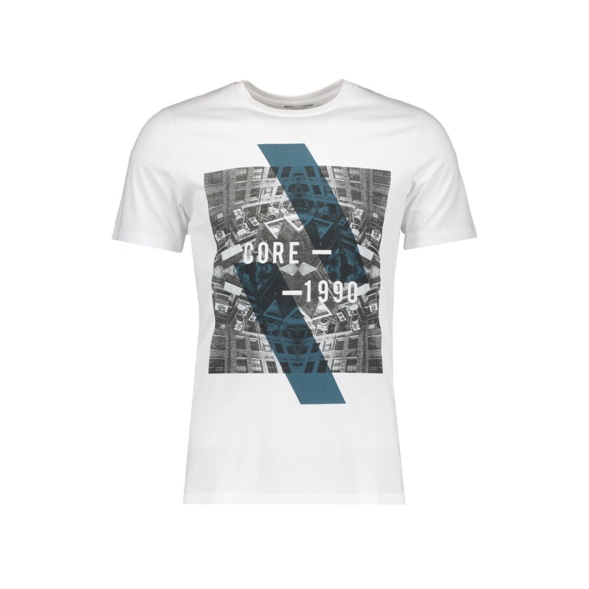 jcoemilio tee ss crew neck dk 12119009 jack & jones t-shirt white