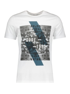 Jack & Jones T-shirt JCOEMILIO TEE SS CREW NECK DK 12119009 White