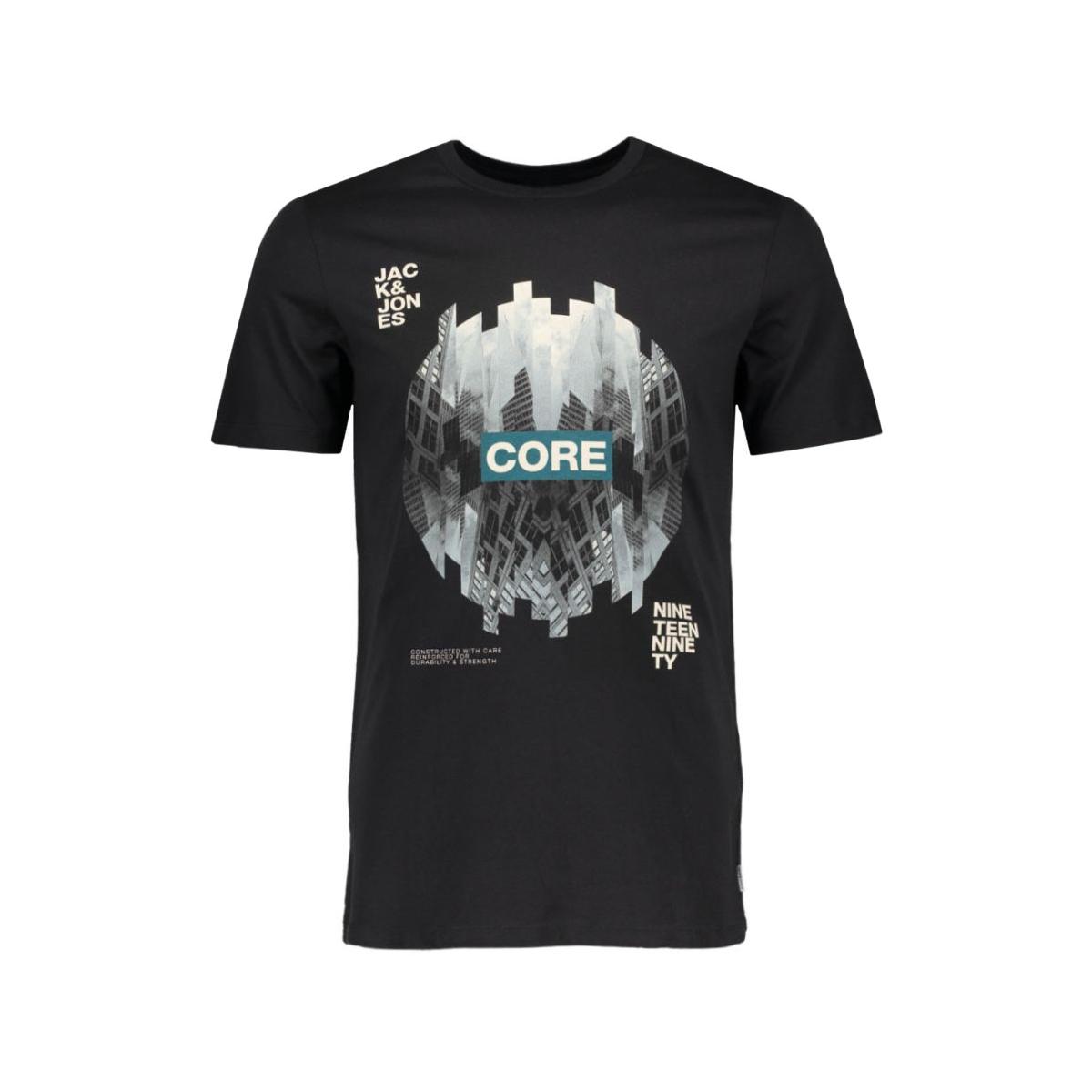 jcoemilio tee ss crew neck dk 12119009 jack & jones t-shirt black