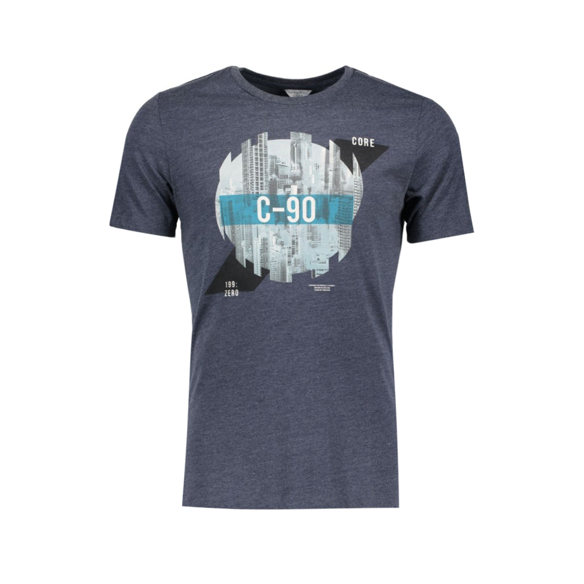 jcoemilio tee ss crew neck dk 12119009 jack & jones t-shirt navy blazer