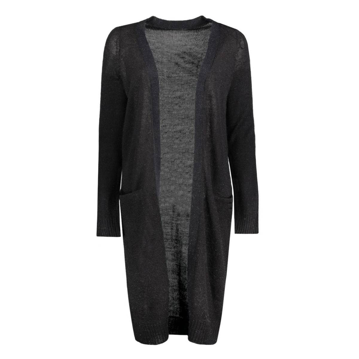 onlnew hayley l/s long cardigan knt 15126884 only vest black