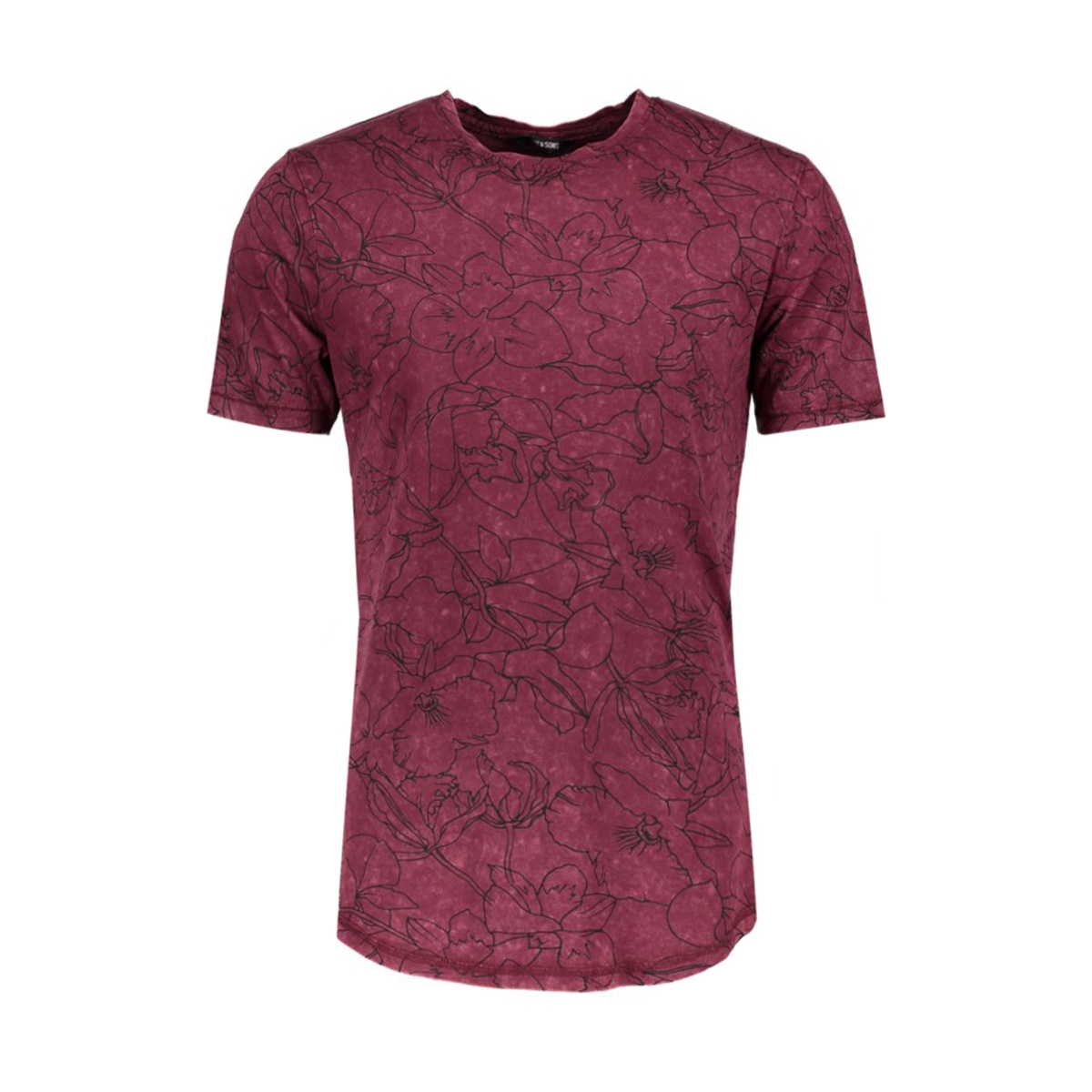 onsandre fitted tee 22004603 only & sons t-shirt tawny port