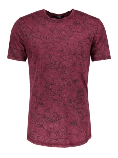 Only & Sons T-shirt onsANDRE FITTED TEE 22004603 Tawny Port