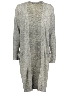 onlnew hayley l/s long cardigan knt 15126884 only vest light grey melange