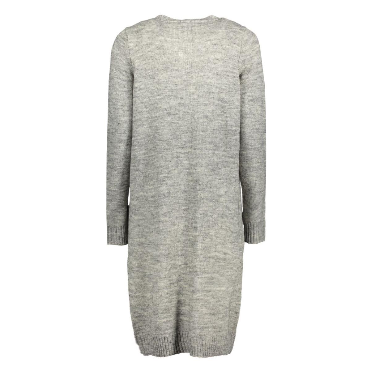onlnew hayley l/s long cardigan knt 15126884 only vest light grey melange