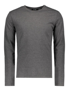 Only & Sons T-shirt onsARON LS FITTED TEE 22004604 Dark Grey Melange