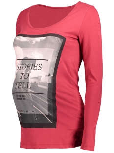 Mama-Licious Positie shirt MLICON L/S JERSEY TOP 20006868 Rio Red
