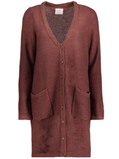 Vero Moda Vest VMJOYA LS LONG SLIT CARDIGAN A 10157990 Decadent Choco/Melange