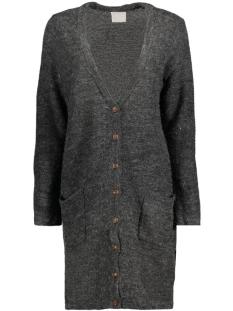 Vero Moda Vest VMJOYA LS LONG SLIT CARDIGAN A 10157990 Dark Grey Melange