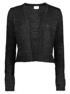 Vila Vest VIMINTY L/S  SHORT KNIT CARDIGAN 14037654 Black/Sequins