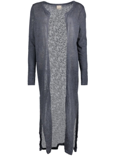 Vero Moda Vest VMNUELLA LS LONG SLIT CARDIGAN LOC 10156927 Ombre Blue