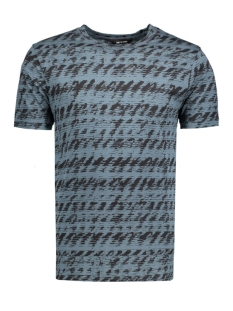 onsAZIG AOP FITTED TEE 22004828 Orion Blue