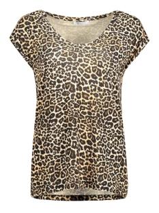 Pieces T-shirt PCBILLO PRINTED TEE D2D 17082603 Cognac/Leo Print