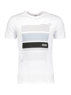 Jack & Jones T-shirt JCOBOOSTER TEE SS CREW NECK 12 12123182 White/Blocks
