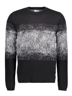 Jack & Jones Trui JCOPEDRO KNIT CREW NECK 12113726 Black