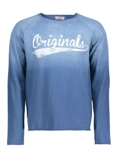 Jack & Jones Trui JORSPRAY KNIT CREW NECK 12115852 Mallard Blue