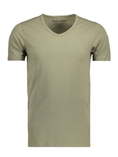 Jack & Jones T-shirt BASIC V-NECK TEE S/S NOOS 12059219 Deep Lichen Gre/Reg