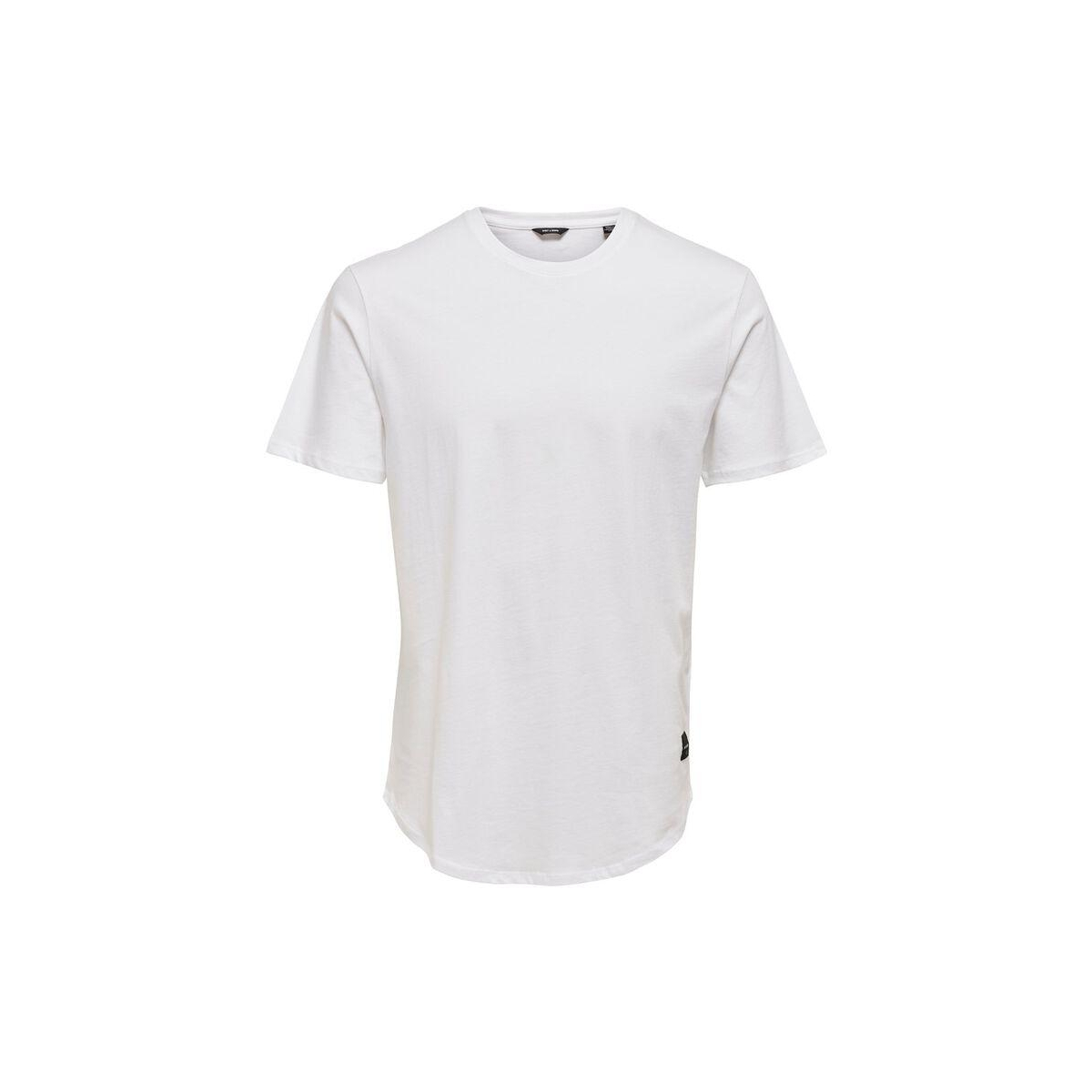 onsmatt longy ss tee noos 22002973 only & sons t-shirt white
