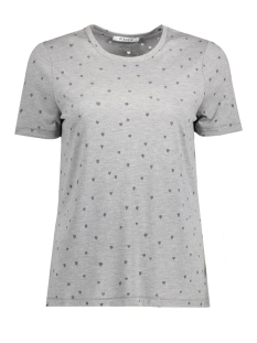 Pieces T-shirt PCMIMI TEE 17080585 Medium Grey Mela