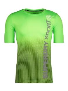 Superdry Sport shirt M10504POF1 ZZV Dissolve Lime Print