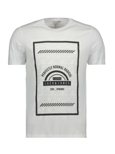 Jack & Jones T-shirt JCOBIKE TEE SS CREW NECK - CAMP 12119124 White