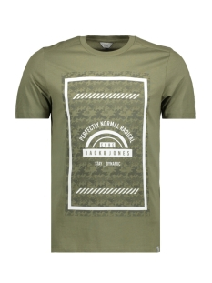 Jack & Jones T-shirt JCOBIKE TEE SS CREW NECK - CAMP 12119124 Deep lichen