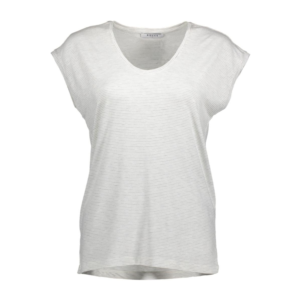 pcbillo tee noos 17074036 pieces t-shirt bright white/light grey