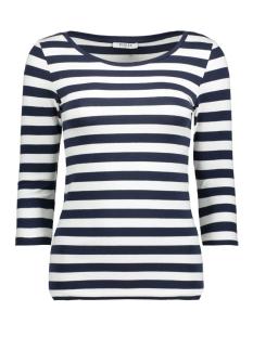 pctrine 3/4 sleeve top noos 17073682 pieces t-shirt cloud dancer/navy blaze