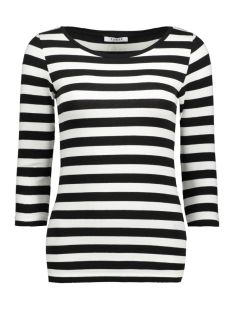 pctrine 3/4 sleeve top noos 17073682 pieces t-shirt black/bwhi