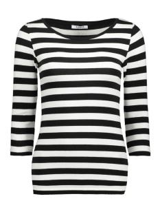 Pieces T-shirt PCTRINE 3/4 SLEEVE TOP NOOS 17073682 Black/BWHI