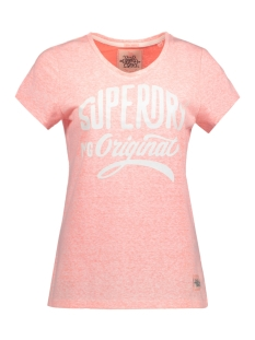 Superdry T-shirt G10001XO ENTRY TEE AP7 CORAL BLOSSOM SNOWY
