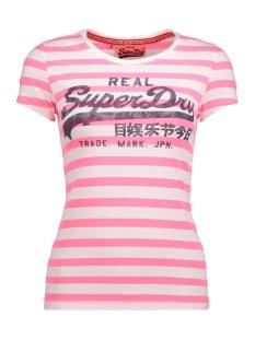 Superdry T-shirt G10023XODS LOGO TEE LRZ FLURO PINK